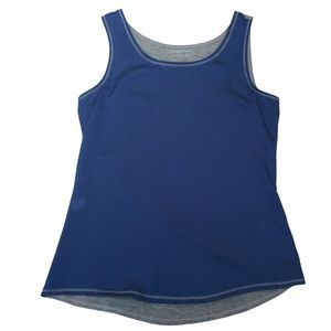 COLDWATER CREEK Blue & Grey Tank Top Size:Small